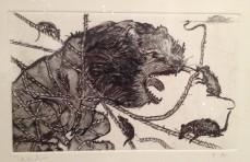 Francisco Toledo, El León y el ratón, 2013.