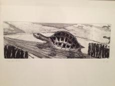 """Francisco Toledo """"La liebre y la tortuga"""" 2013"""