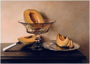 Mauro David - Crystal dish with melons