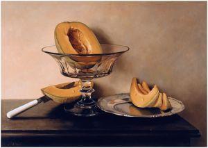 Mauro David - Crystal dish with melons